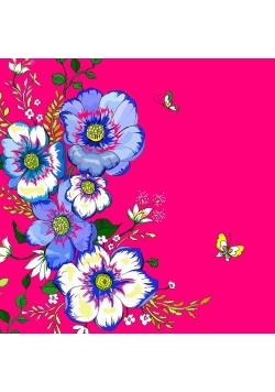Karnet Swarovski kwadrat CL0612 Kwiaty róż