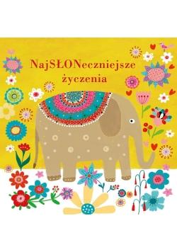 Karnet B6 Urodziny- Słoń
