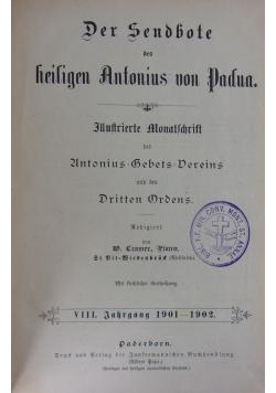 Der Sendbote des heiligen Antonius von Padua. VIII. ok 1902 r.