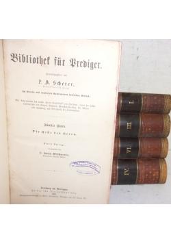 Bibliothek fur Brediger tom I-VI(brak tomu II)