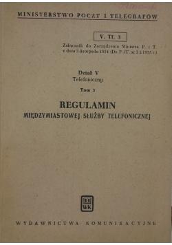 Regulamin międzymiastowej służby telefonicznej, tom 3