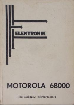 Elektronik, motorola 68000 lista rozkazów mikroprocesora