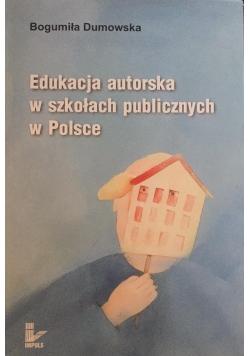 Edukacja autorska w szkołach publicznych w Polsce