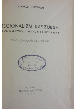 Regionalizm Kaszubski, 1950 r.