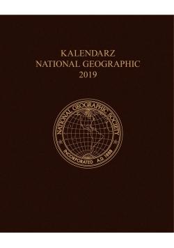 Kalendarz 2019 National Geographic brązowy