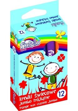 Kredki Fiorello świecowe trójkątne 12 kol FIORELLO