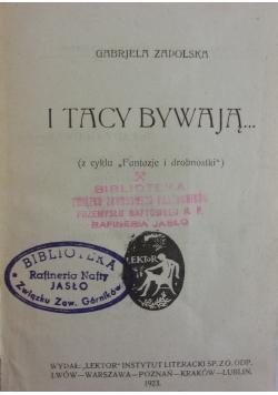 I tacy bywają, 1923 r.