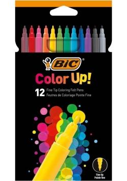 Flamastry Color UP 12 kolorów BIC