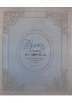 Sonety Adama Mickiewicza, reprint z 1826 r.