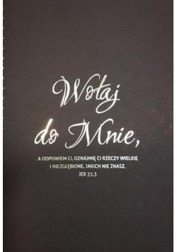 Mój dziennik -złocony czarny - Wołaj do mnie...