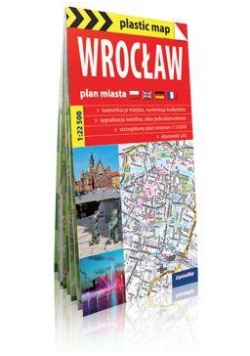 Plastic map Wrocław plan miasta 1:22 500