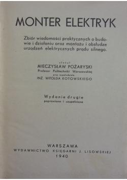 Monter Elektryk, 1940 r.