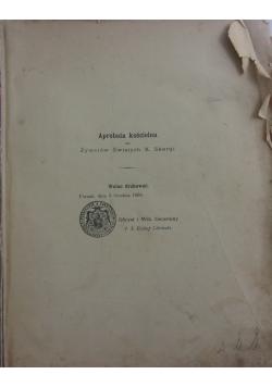 Aprobata kościelna do Żywotów Świętych/ Żywoty Świętych starego y nowego zakonu, ok. 1890r.