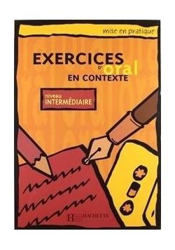 Exercices d'oral en contexte - intermediaire
