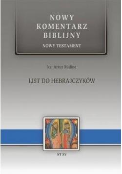 List do Hebrajczyków. NT XV