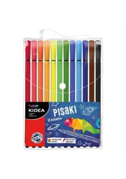 Pisaki w etui 12 kolorów KIDEA