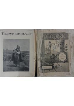 Tygodnik ilustrowany , zestaw 2 książek, 1901r.
