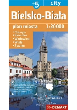 Plan miasta Bielsko-Biała +5 1:20 000 DEMART