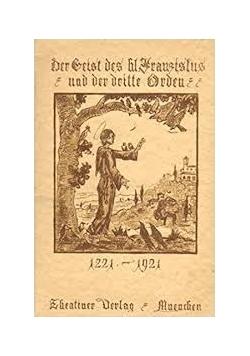 Der Geist des hl. Franziskus und der dritte Orden, 1921 r.