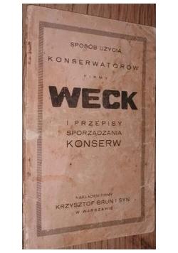 Weck i przepisy sporządzania konserw, 1929 r.
