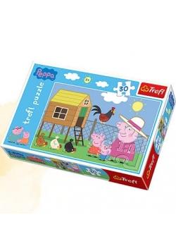 Puzzle 30 Peppa Wizyta w kurniku TREFL