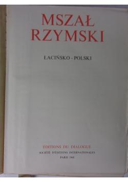 Mszał rzymski łacińsko - polski