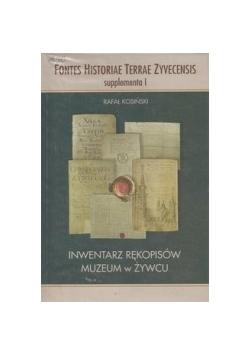 Inwentarz rękopisów muzeum w Żywcu