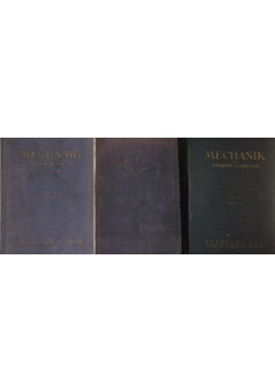 Mechanika ,Tom I,II,II
