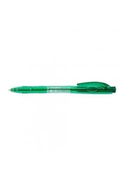 Długopis Liner aut. zielony (10szt) STABILO