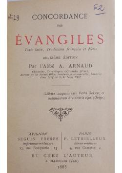 Evangiles , 1885 r.