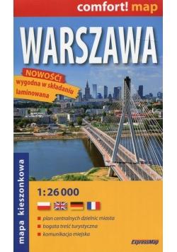 Warszawa comfort! map laminowana mapa kieszonkowa 1:26 000