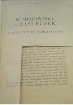 W rojowisku cząsteczek, 1938 r.