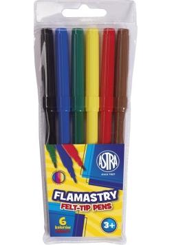 Flamastry 6 kolorów ASTRA