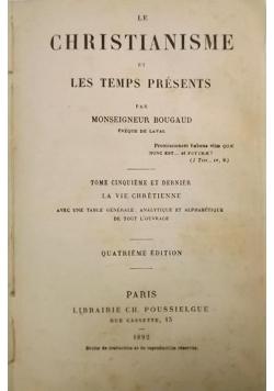 Le christianisme et les temps presents, 1892 r.