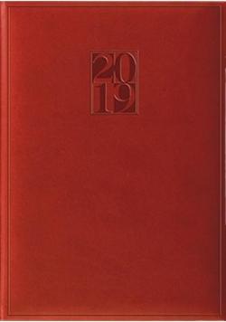 Terminarz 2019 A5 Print - czerwony