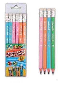Ołówek Premium z gumką jumbo (12szt) PENMATE