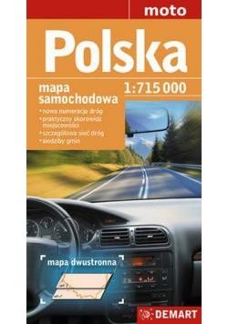 Polska 1:715 000 Mapa Samochodowa