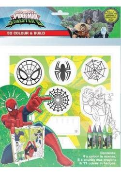 Spiderman. Koloruj i twórz scenki 3D z kredkami