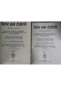 Rede und Schrift ,Tom I,II,1923r.