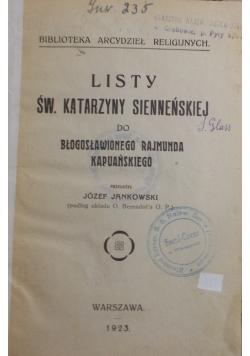 Listy św. Katarzyny Sienneńskiej, 1923 r.