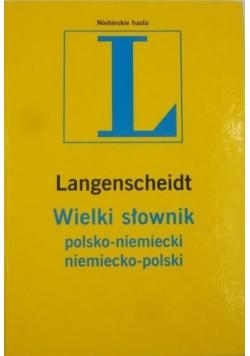 Langenscheidt Wielki słownik polsko-niemiecki niemiecko-polski
