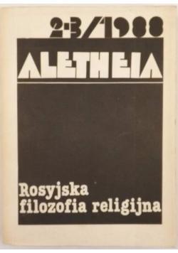 Aletheia, Nr 2 - 3 1988. Rosyjska filozofia religijna