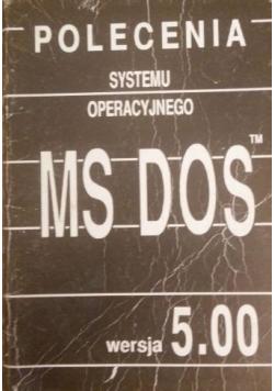 Polecenia systemu operacyjnego ms dos, wersja 5.00