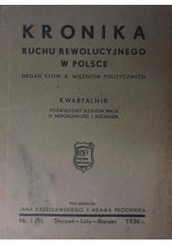 Kronika ruchu rewolucyjnego w Polsce , 1936r.