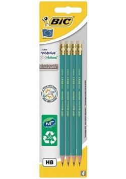 Ołówek Evolution Eco z gumką 4 szt bls BIC
