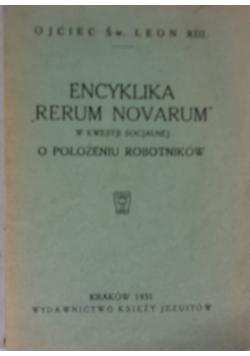 "Encyklika""Rerum Novarum"", 1931"