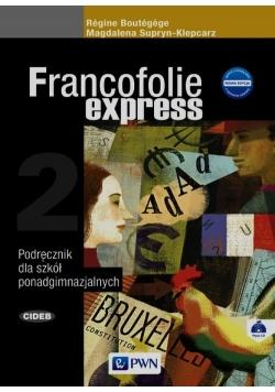 Francofolie express 2 Podręcznik + CD