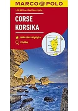 Mapa drogowa Korsyka 1:150 000 MARCO POLO