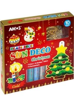 Farby witrażowe 10 kolorów + witraże Christmas