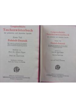Langenscheidta. Słownik kieszonkowy polsko- niemiecki/ niemiecko- polski, 2 części, 1920r.